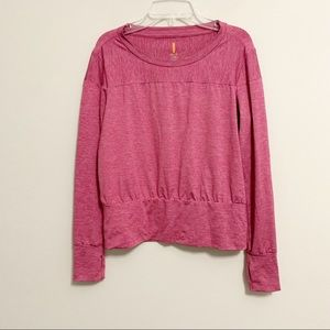 Lucy Cropped Long Sleeve Thumbhole Workout Top XS